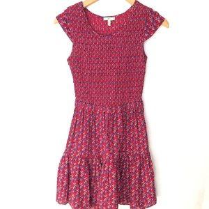 Joie Silk Dress prairie elastic Mini Floral XS